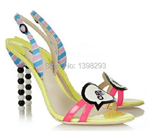 Candy color sandals fashion new 2015  peep toe girl thin high heel sandals for women<br><br>Aliexpress
