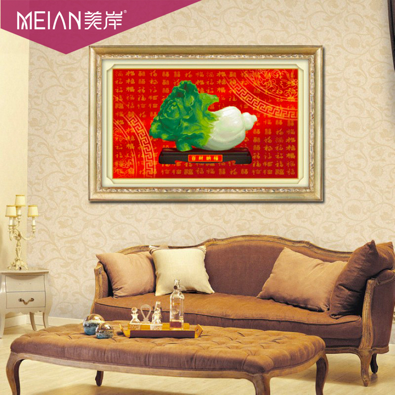 Гаджет  US- shore wind one hundred 3D stitch Chinese cabbage blessing fiscal Hannaford gift on red new living room paintings None Изготовление под заказ