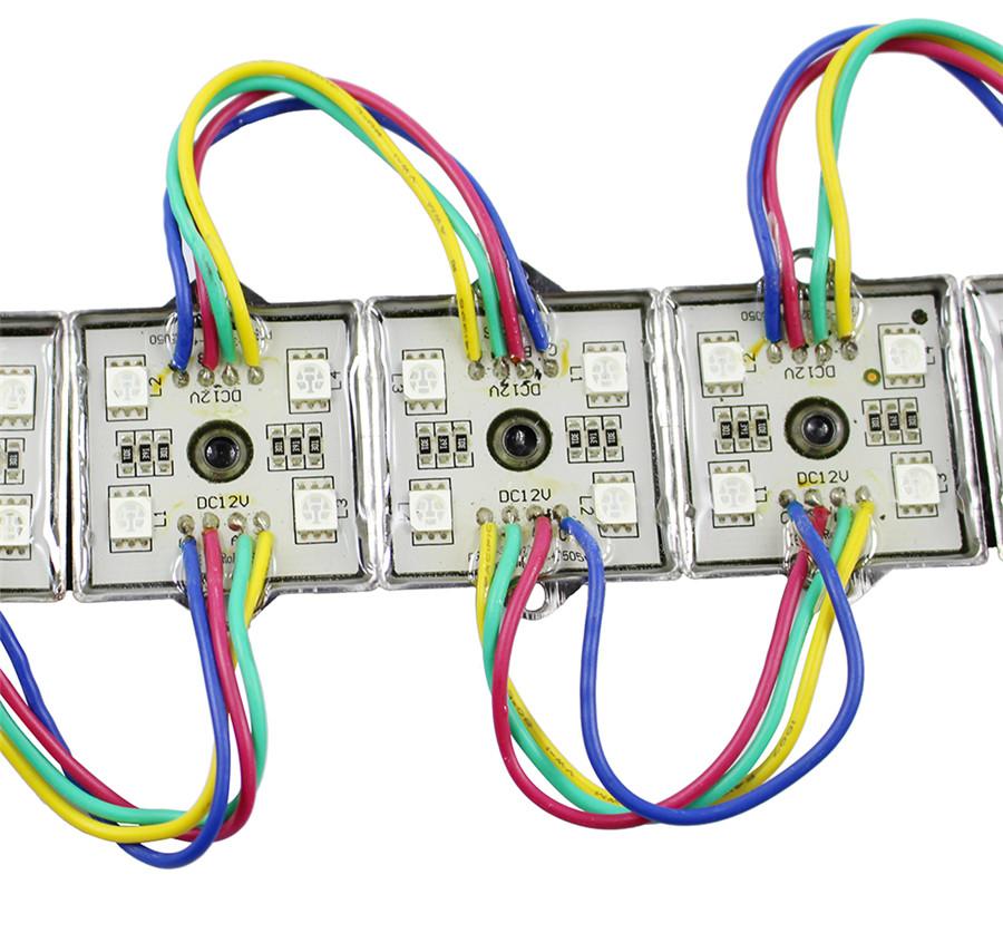 Super Bright 20pcs/Lot DC12V 5050 RGB LED Module 4Leds Waterproof Iron Shell LED Module For Advertising Board Display Window(China (Mainland))