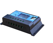 NEW USB Solar charge controller 20A With Dual USB Output 12V 24V auto work LCD Dispaly