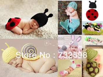 21 Style Toddler Baby Kids Costume Photo Prop Knit Crochet Beanie Flowers Animal Hat Cap