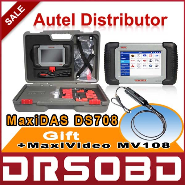2015 New Arrival Autel MaxiDAS DS708 Automotive Diagnostic and Analysis System ALL electronic systems live data ECU programming(China (Mainland))