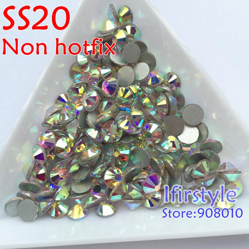 Crystal AB SS20 More Shiny 1440pcs Loose Strass Glue Fixed Non Hotfix Crystals Nail Art Rhinestones(China (Mainland))