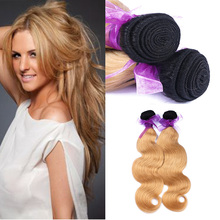 Brazilian Ombre Virgin Hair Body Wave Lot Grade 7A Extension Dark Roots 1b 27 Human Weave - Double Quality Factory store