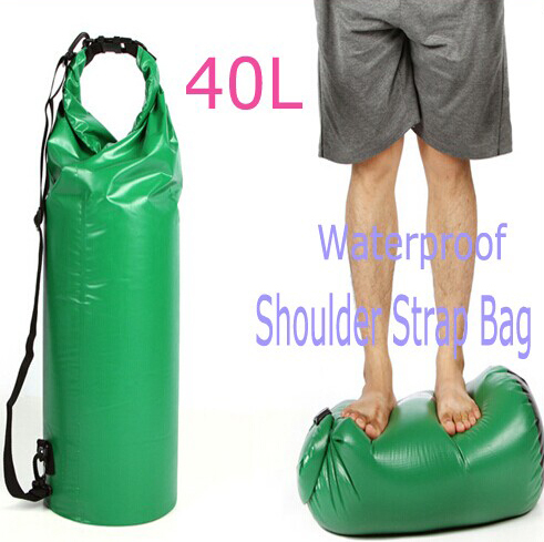 40L Drybag Waterproof Drifting Bag Outdoor Swimming Watersports Surfing Diving Holiday Beach Backpack(China (Mainland))