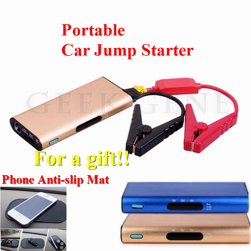 2017 Multi-Function 12V Car Jump Starter Mobile Phone Laptops Power Bank SOS Lights 400A Peak Battery Booster Charger Free Ship(China (Mainland))