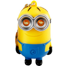 3D Minions Toys Cartoon Movie Despicable Me 2 Mini Minion Keychains Doll PVC Action Figure Toys Christmas Gift(China (Mainland))