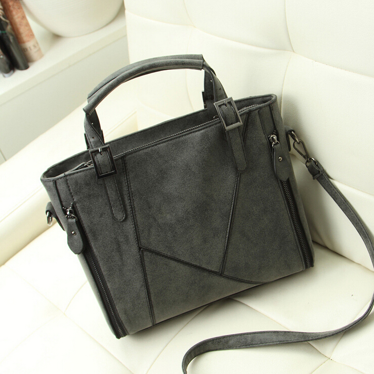 New arrival Fashion classical patchwork frosted PU leather women bag, leather handbag/shoulder bag WLHB936(China (Mainland))