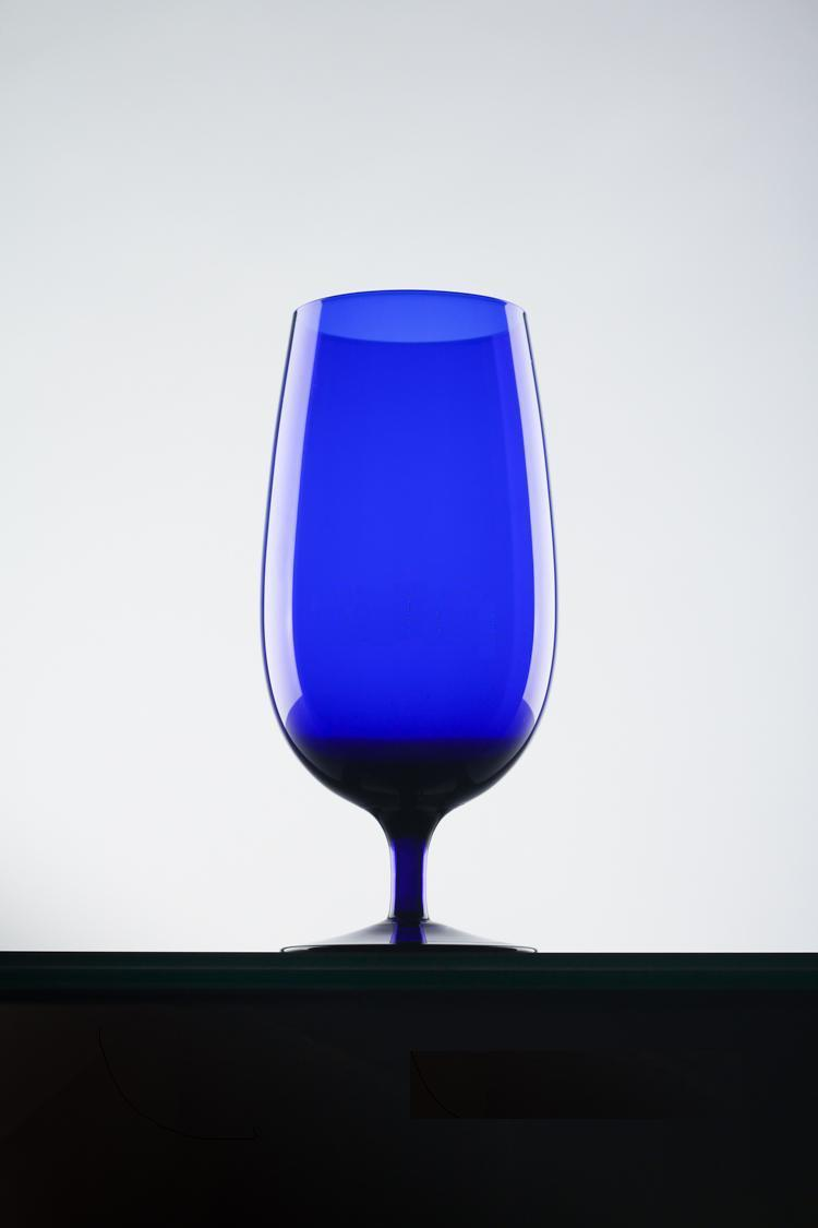 Creative Blue Glass Cup Juice Cup (J), Wine Glass (W),Champagne Glass (C), Kitchen or Bar or Home Wine Cooler Decoration(China (Mainland))