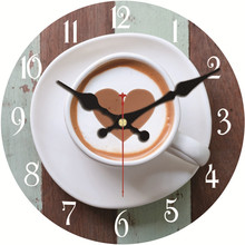 Buy Coffee Mug Design Wall Clock Relogio De Parede Large Silent Living Room Saat Home Decoration Watch Wall High Gift for $6.09 in AliExpress store
