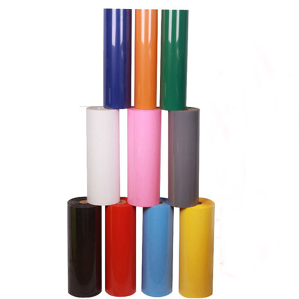 50cmx100cm PU Iron-on Heat Transfer Vinyl Cutting Film for DIY T-shirt 10 colors Available for you Choose(China (Mainland))