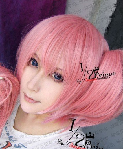 ~ Puella Magi Madoka Magica.Kaname Madoka.520.Pink short 2 clip ponytails on extension anime party cosplay wig,free shipping<br><br>Aliexpress