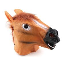 Creepy Horse Mask Head Halloween Costume Theater Prop Novelty Latex RubberSelling Popular Worldwide sale(China (Mainland))