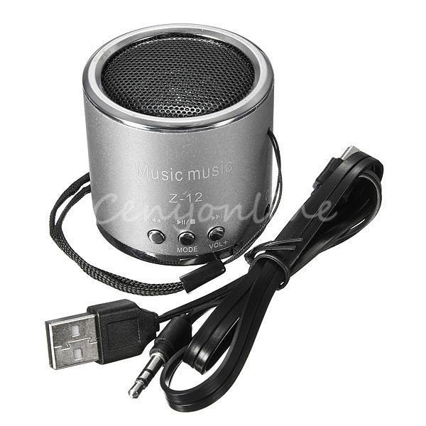 Hot Z12 Mini Cylinder Portable Speaker Amplifier FM Sound Music Radio HIFI Support USB Micro for SD TF Line in Card MP3 Player(China (Mainland))