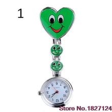 2015 Popular Style Women s Cute Smiling Faces Heart Clip On Pendant Nurse Fob Brooch Pocket