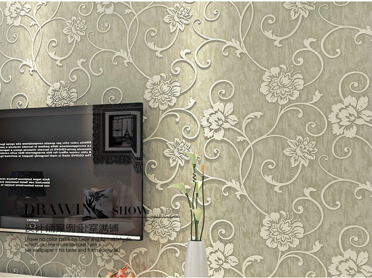 3d papel de parede floral vintage wallpaper tv sofa for Wallpaper home vintage