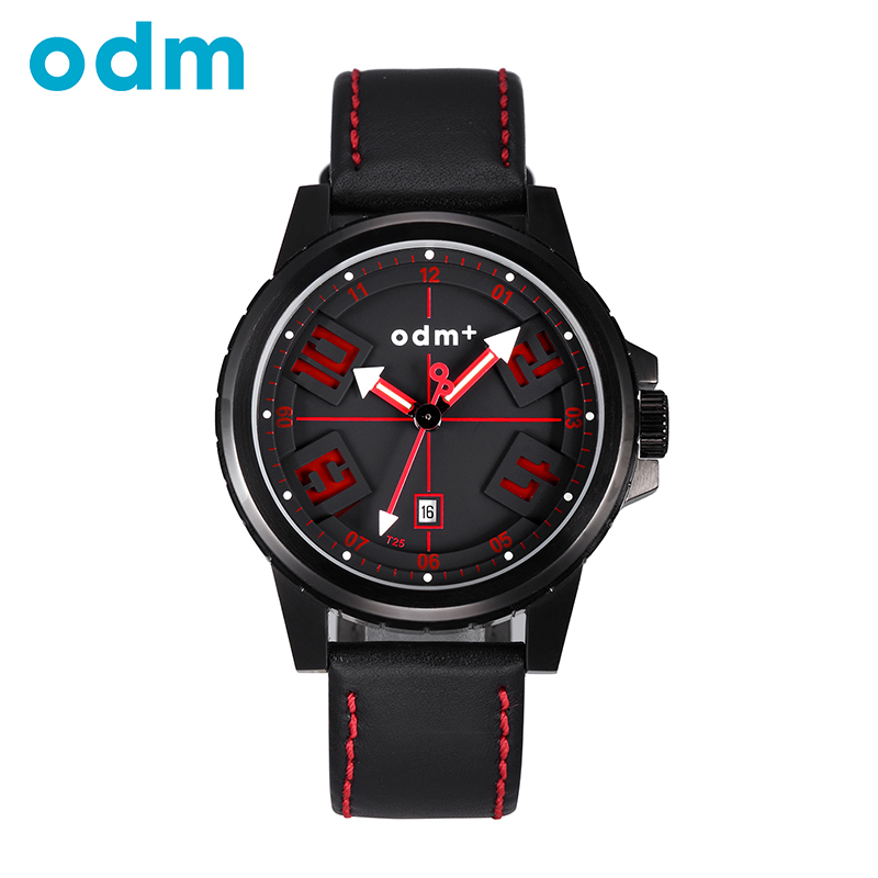 ODM Fashion and Casual Military Style Watch Tank Pedrail like Watch Leather / Stainless Steel Wristwatch For Men DM007(China (Mainland))
