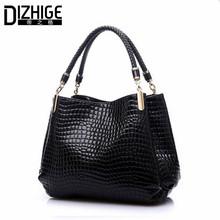 2015 Alligator Pu Leather Women Bolsas De Couro Fashion Sequined Shoulder Bag Zipper Ladies Handbags Bolsas Femininas