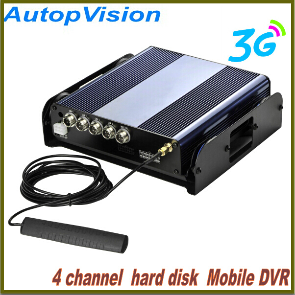 3G gps 4ch bus car HDD Mobile DVR with build-in G-sensor(China (Mainland))