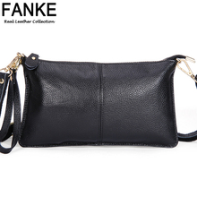 2016 New Fashion 100% Genuine Leather Envelope Clutch Designer Handbags High Quality Crossbody Womens Female Clutch Evening Bags
