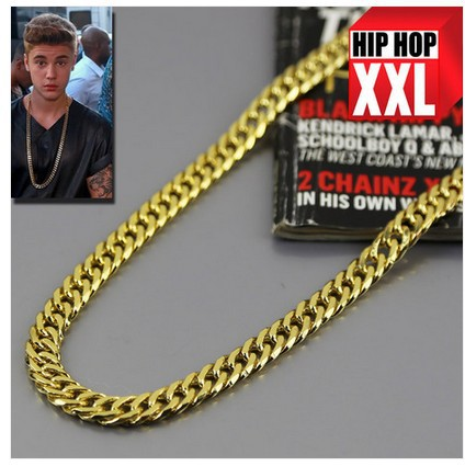 Justin Bieber Gold Chain Necklace New Justin Bieber Necklace