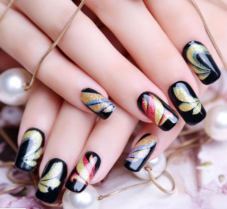 hot sale new fashion beauty strap on decal manicure nail stickers, nail art , sticker on nails(China (Mainland))