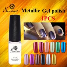 Saviland nail gel polish metalic of 12 lucky colors set uv nail glue metal gel varnishes Shining Gel removal top and base coat