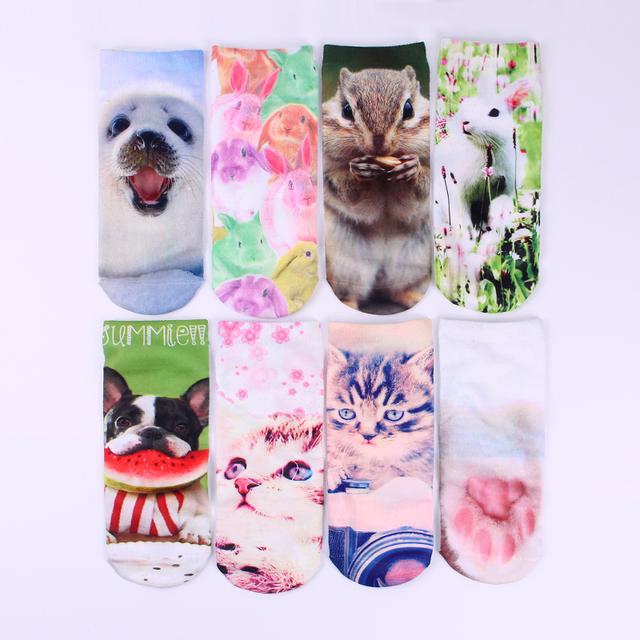 2015 последнее животных кот модные мужчины и женщины носки тапочки