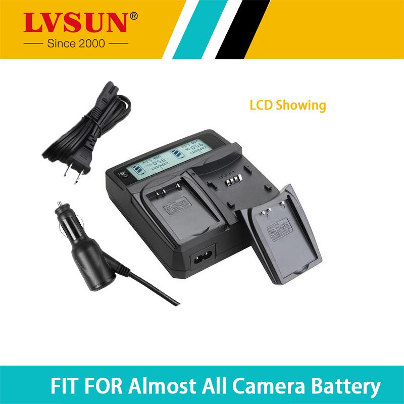 LVSUN Camera Battery BCF10 DMW- BCF10 DMWBCF10 Dual Ca /AC Charger With LCD Display for Panasonic DMC-FS12 DMC-FS25 DMCFT1 FX550(China (Mainland))