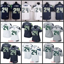 100% Elite men Seattle Seahawks AAA quality free shipping women kids youth 24 Marshawn Lynch(China (Mainland))