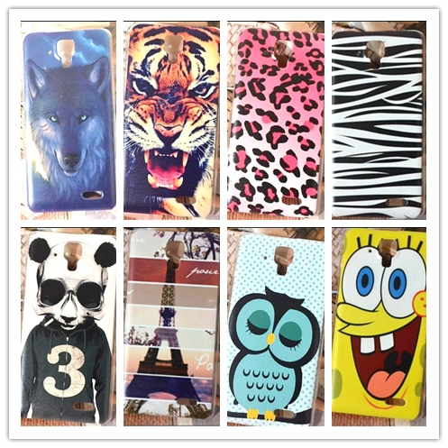 15 pattern Fashion tiger wolf owl zebra Flower case Lenovo A536 A358T Case Cover / hard Colored Paiting Lenovo A358T case(China (Mainland))