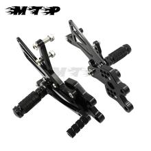 Buy Motorcycle Rear Sets 2004-2005 ZX 10R CNC Aluminum Adjustable Foot Pedals Rests Pegs Rearsets Kawasaki ZX10R ZX-10R 04 05 for $92.83 in AliExpress store