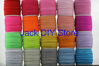 """32colors 10yds/color 1/8"""" Skinny Elastic for headband Hair Accessories Free Shipping YOU PICK 5 COLORS"""