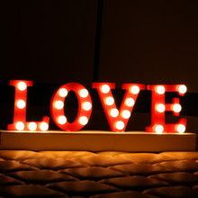 Romantic LOVE Led Night Lights Festival Gifts for Valentine's Day Bedside Lights for Wedding Decoration Warm Led Letter Light (China (Mainland))