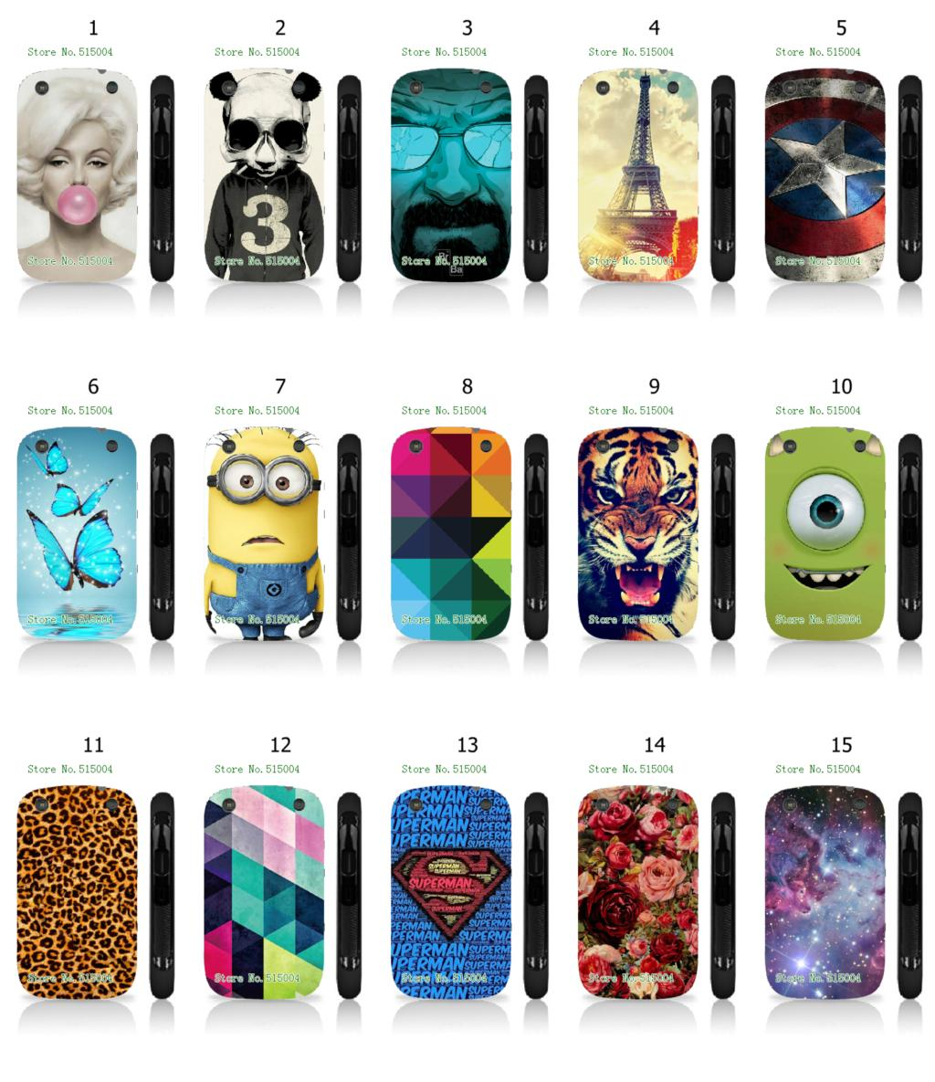 Mobile Phone Cases Hot 1pc Flowers Minions Hybrid Design Protective White Hard Case For Blackberry 9320 Free Shipping(China (Mainland))