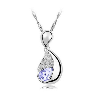 amethyst necklace bling pendant female accessories pendant