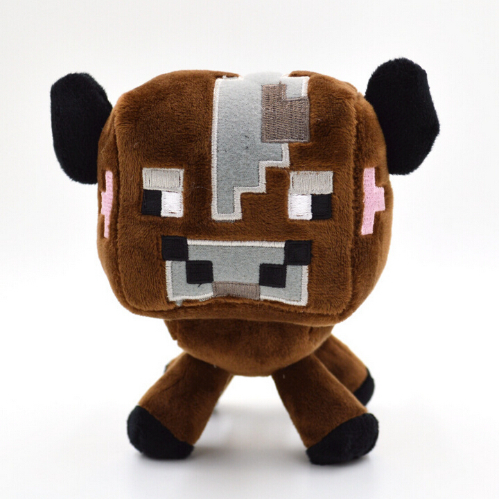 """1pcs 6.3"""" 16cm New Minecraft Plush Toys High Quality Minecraft Brown Cow Stuffed Animals Dolls Minecraft Creeper Baby Toys Gifts(China (Mainland))"""