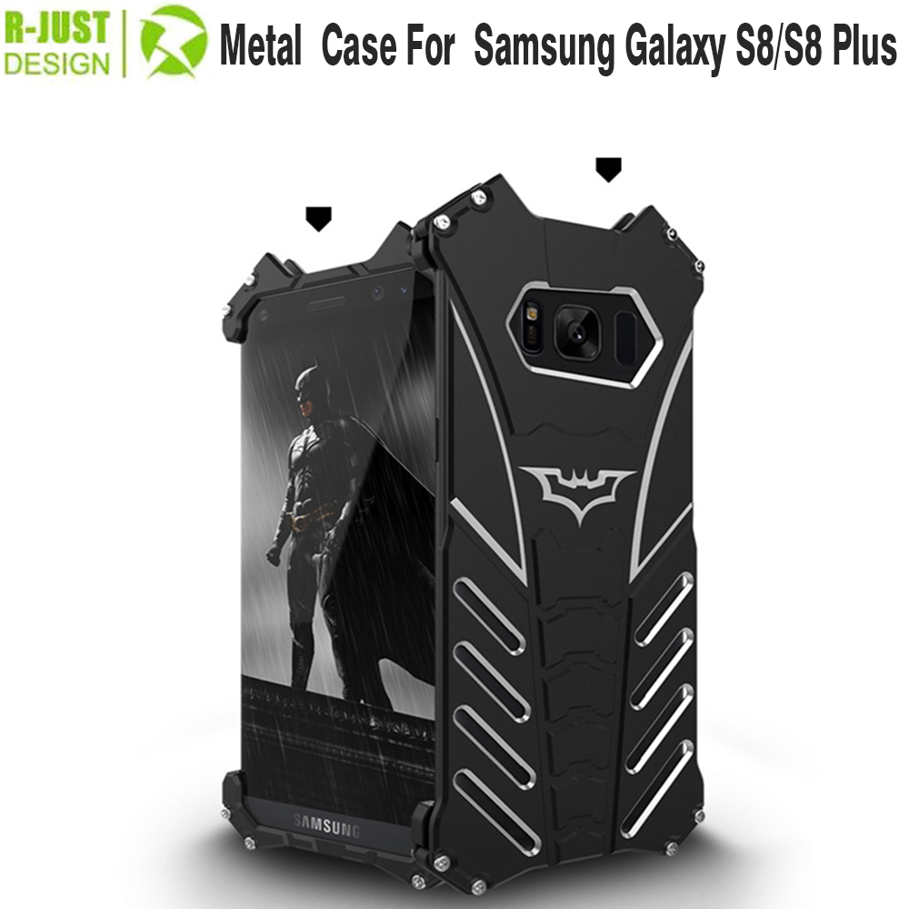 R-JUST batman case for samsung galaxy s8 s8 plus Metal Aluminum Shockproof Cover Case For Samsung Galaxy s8 s8 plus black(China (Mainland))