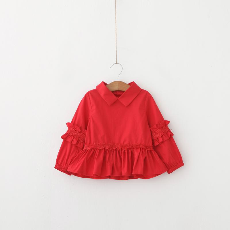 6pcs/lot Girls Fashion Lace Blouse Princess Child Korean Style Top Shirt<br><br>Aliexpress