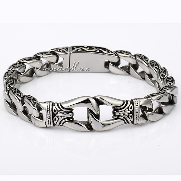 bracelets boy is band image loading stainless jewelry fashion steel bracelet silicone id itm stretch s plain