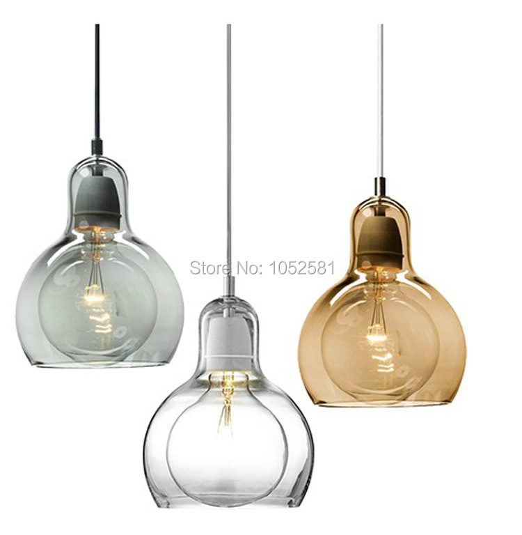 Brief Personalized Big Bulb Pendant Lights Small Glass