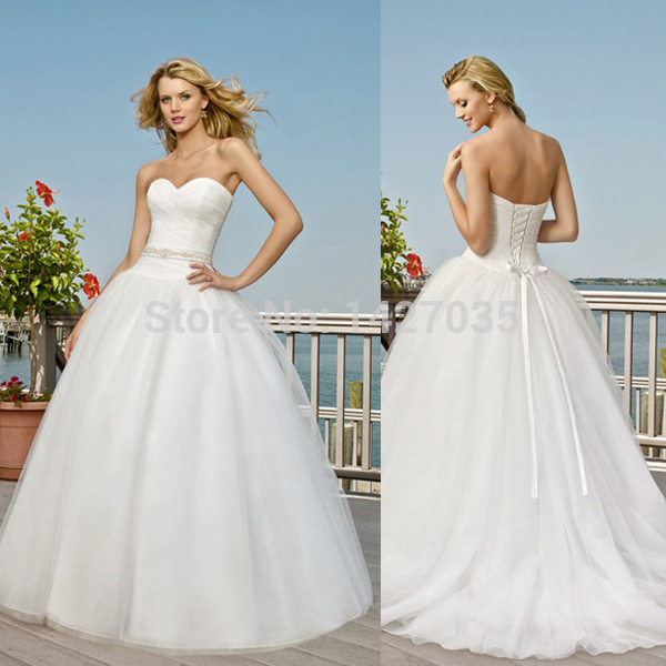 New gownwd1440 sweetheart neckline corset ruched bodice for Sweetheart neckline ruched bodice wedding dress