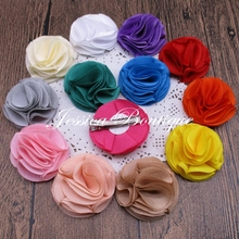 Free Shipping! 30pcs/lot 2 inch Chiffon Flowers with Alligator clips Wedding flower Hair clips for Girls Ballerina flower
