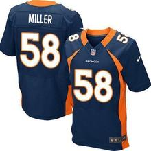 2016 Men Denver broncos, DEREK WOLFE 95#, BRADLEY ROBY 29# Customer customization, white blue orange, 100% stitched logo(China (Mainland))