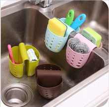 new creative kitchen storage basket sink hang baskets neatening racks for cistern Included bags for Double sink Free Shipping