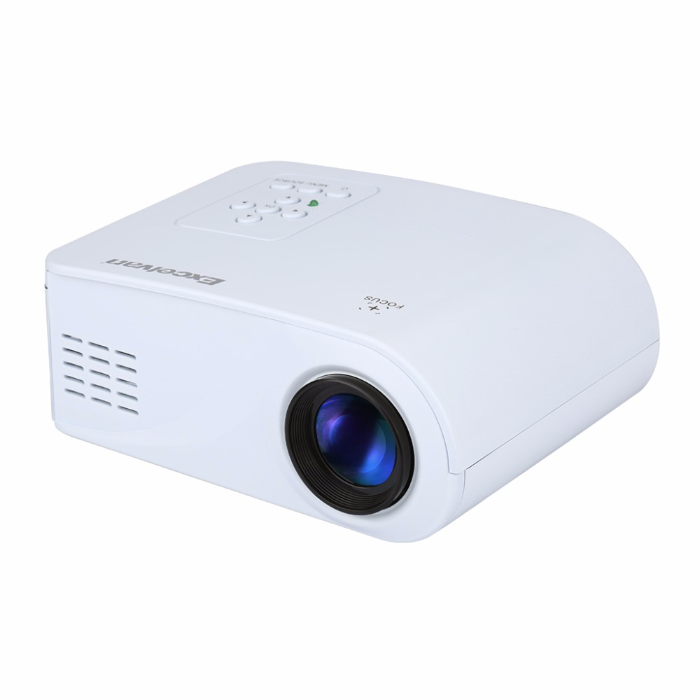 Excelvan x6 mini portable projector 120lumens support for Usb projector reviews