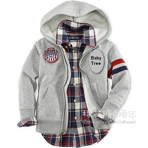 4- 12 yrs brand children hoody 100% cotton zipper-up sweatshirt boys outerwear spring autumn children's clothing kids sportswear(China (Mainland))