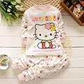 Baby Girls Pajamas Infant Clothing Set 95 Cotton Cartoon Suit Kids Children Clothing Set 2 Pcs