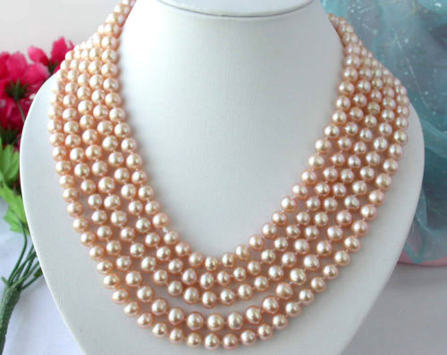 FREE SHIPPING  Z2385 REAL 100 9mm round pink freshwater pearl necklace<br><br>Aliexpress