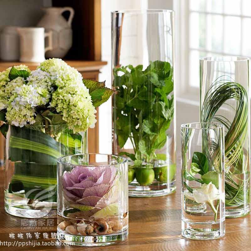 Transparente glas vase f r blumen hochzeit requisiten spur for Blumen dekorieren im glas